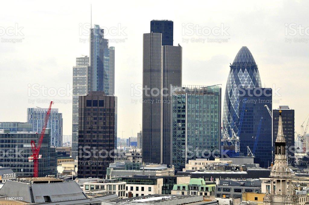 London city skyline royalty-free stock photo
