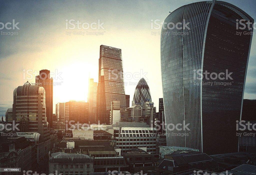 London city skyline stock photo