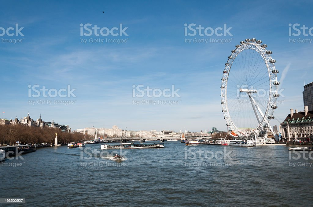 London City - Thames stock photo
