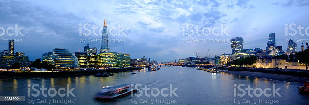 london City view from Tower Bridge stock photo