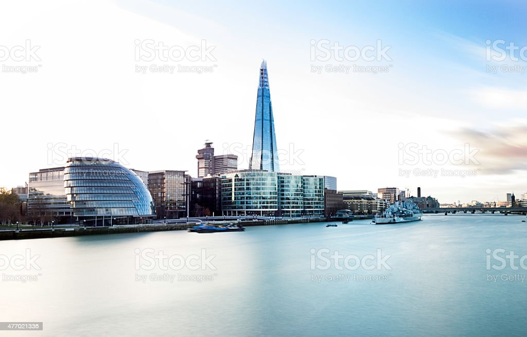 London City with City Hall and The Shard stock photo