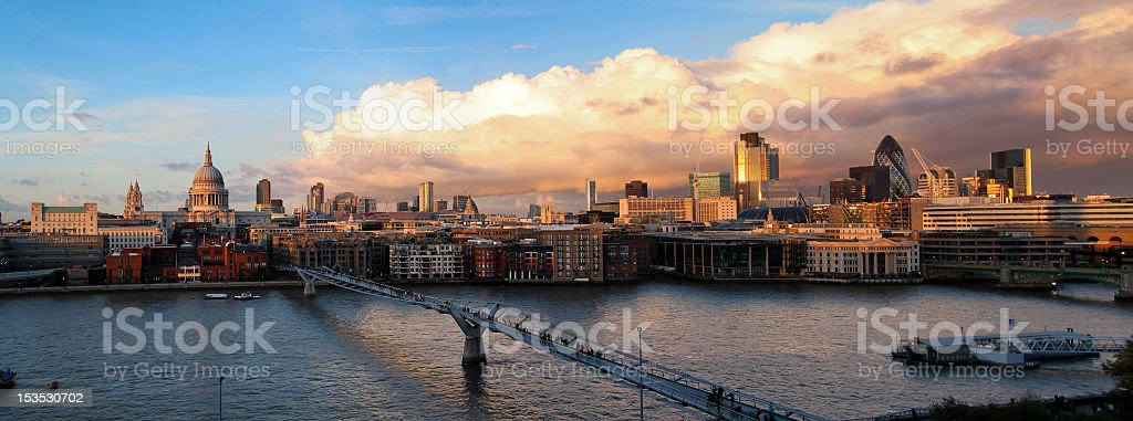 London - cityscape at sunset royalty-free stock photo