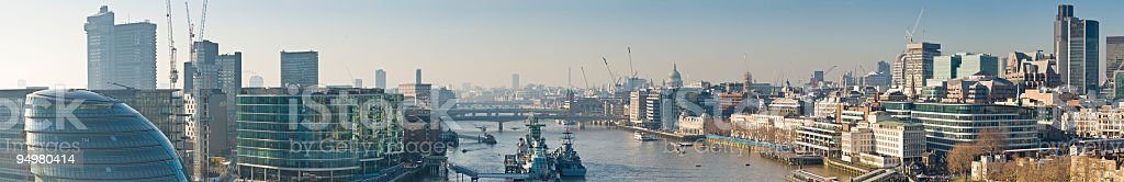 London cityscape from Tower Bridge royalty-free stock photo