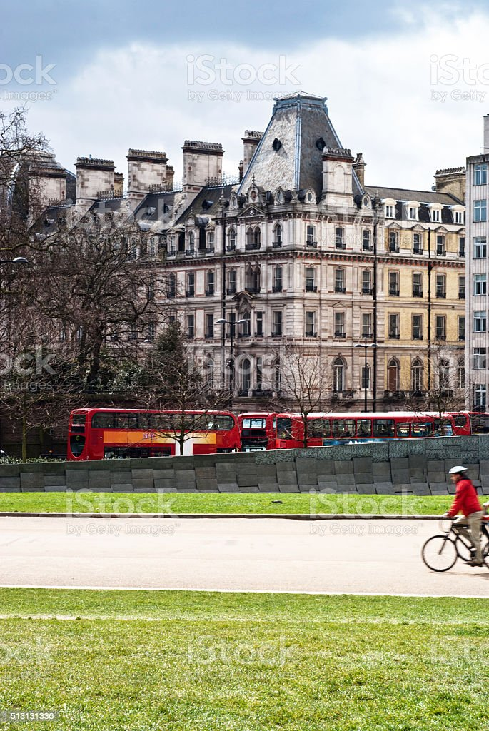 London cityscape near hyde park corner stock photo