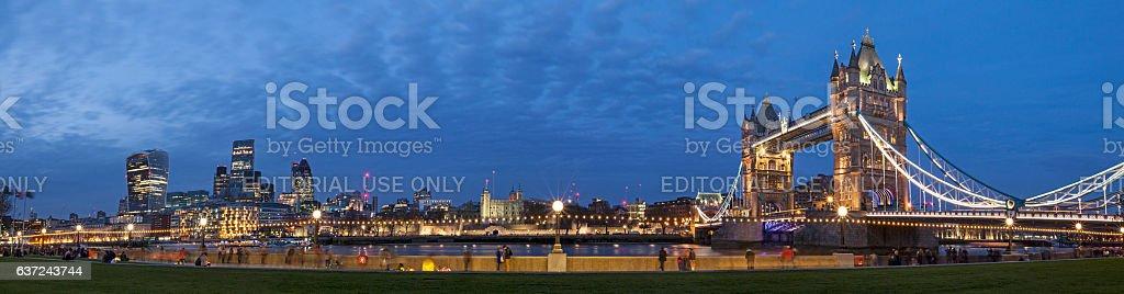 London Cityscape Panoramic stock photo