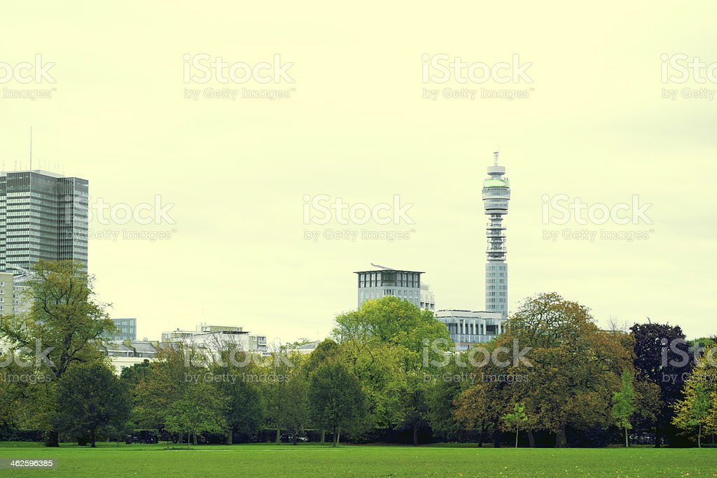 London Cityscape, The British Telecom Tower. royalty-free stock photo