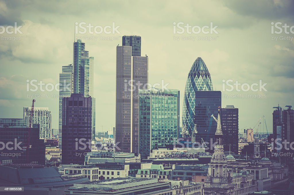 London Cityscape, United Kingdom stock photo
