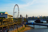 London Cityscape with Big Ben and London Eye