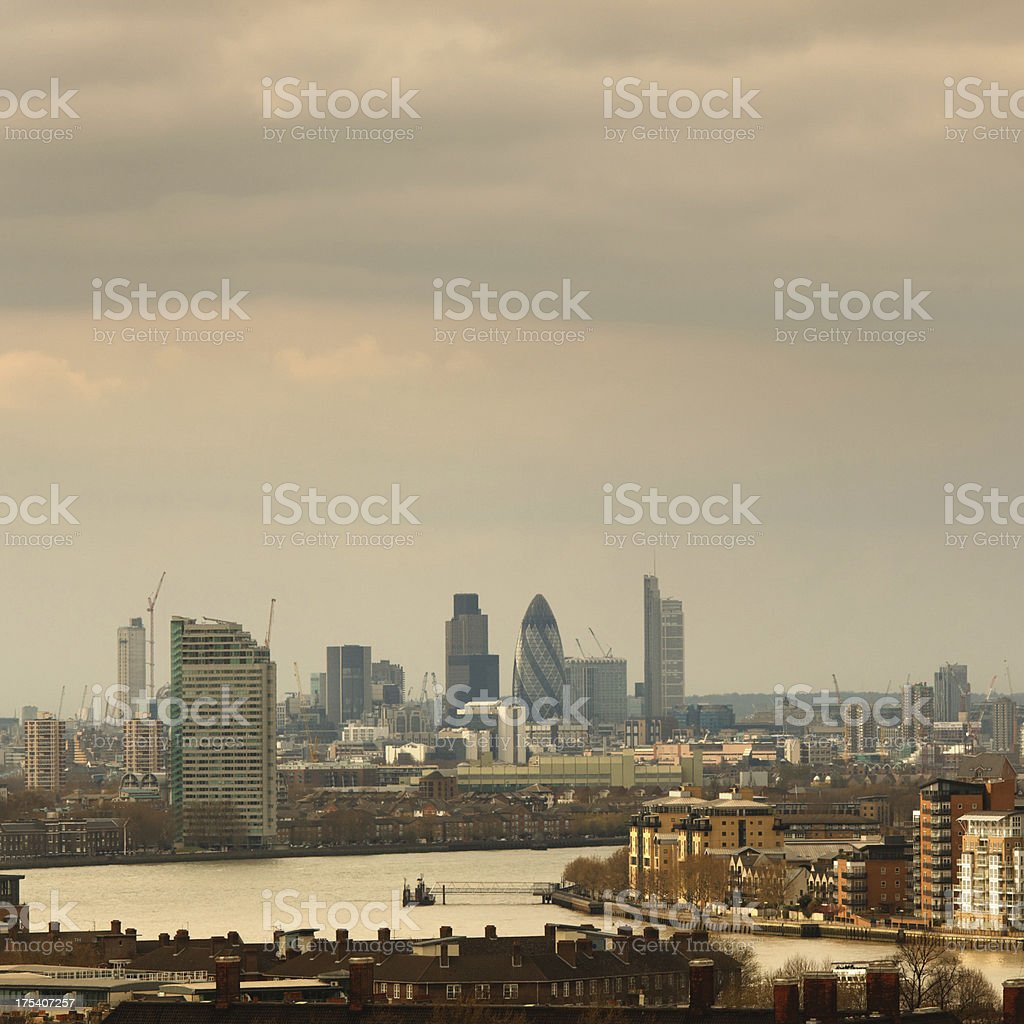 London cityscape with the Thames river royalty-free stock photo