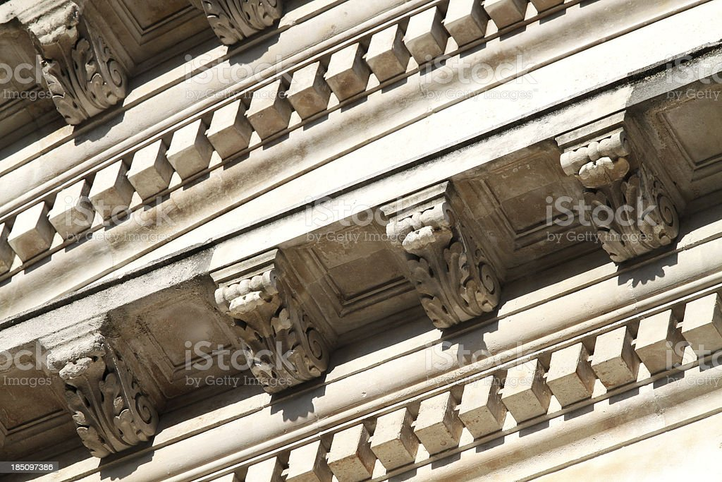 London - Classical facade detail stock photo