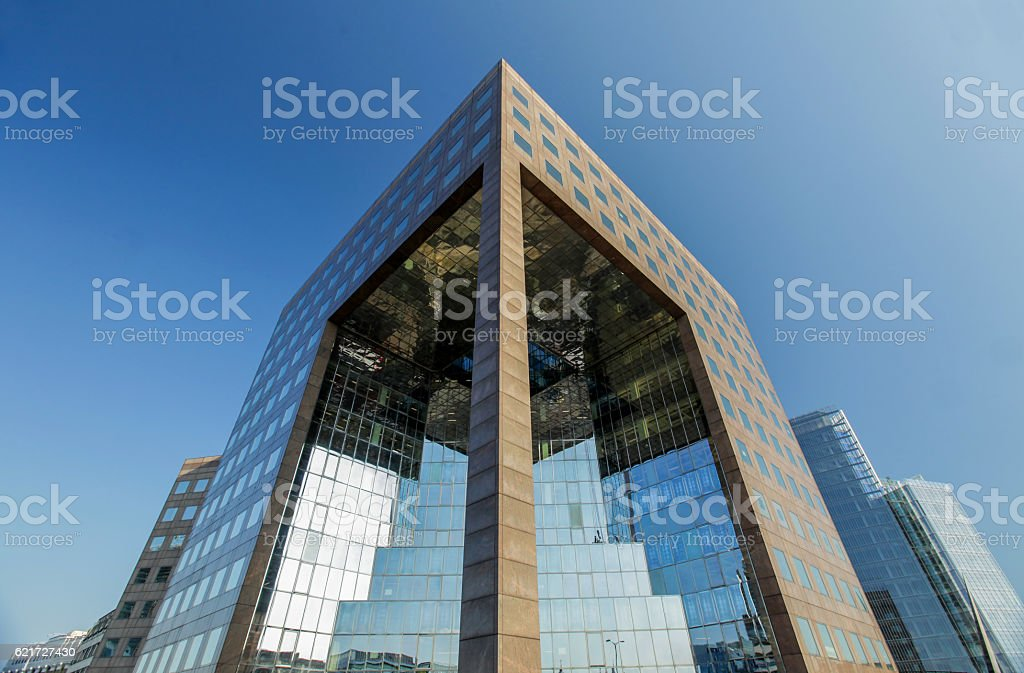 London commercial buildings stock photo