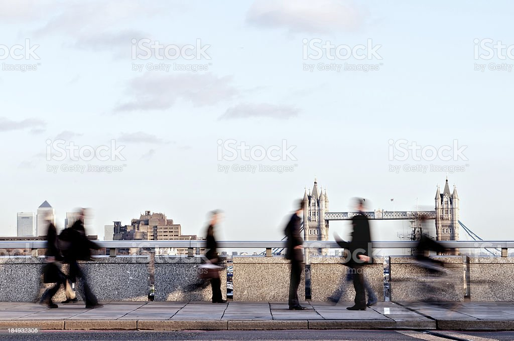 London Commuters royalty-free stock photo