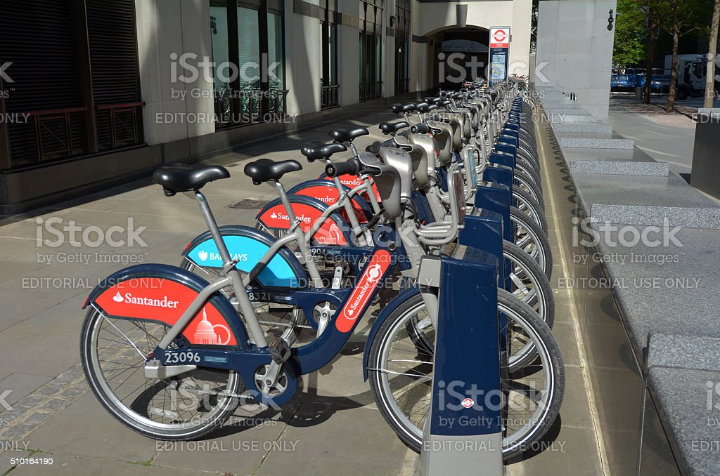 London Cycle Hire Scheme stock photo