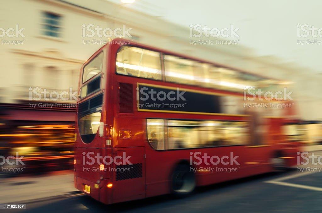London Double Decker Bus - Vintage Mood stock photo