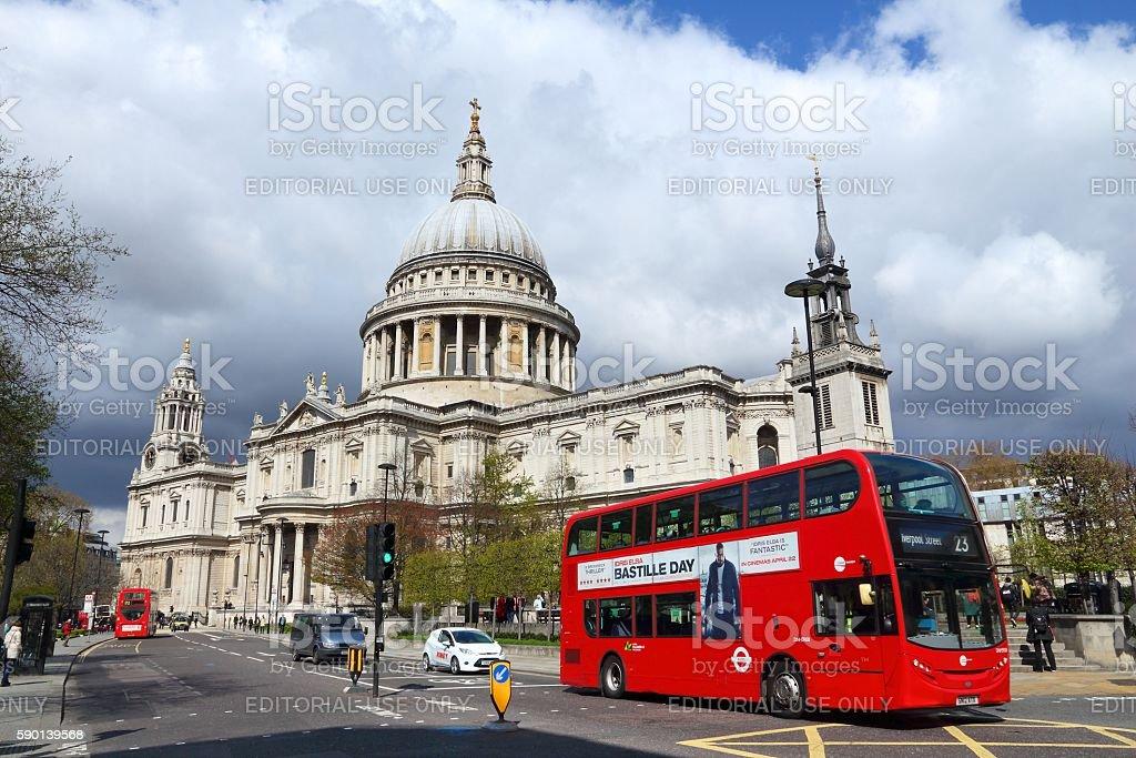 London double decker stock photo