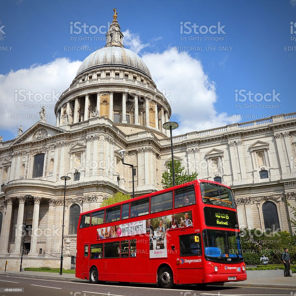 London doubledecker stock photo
