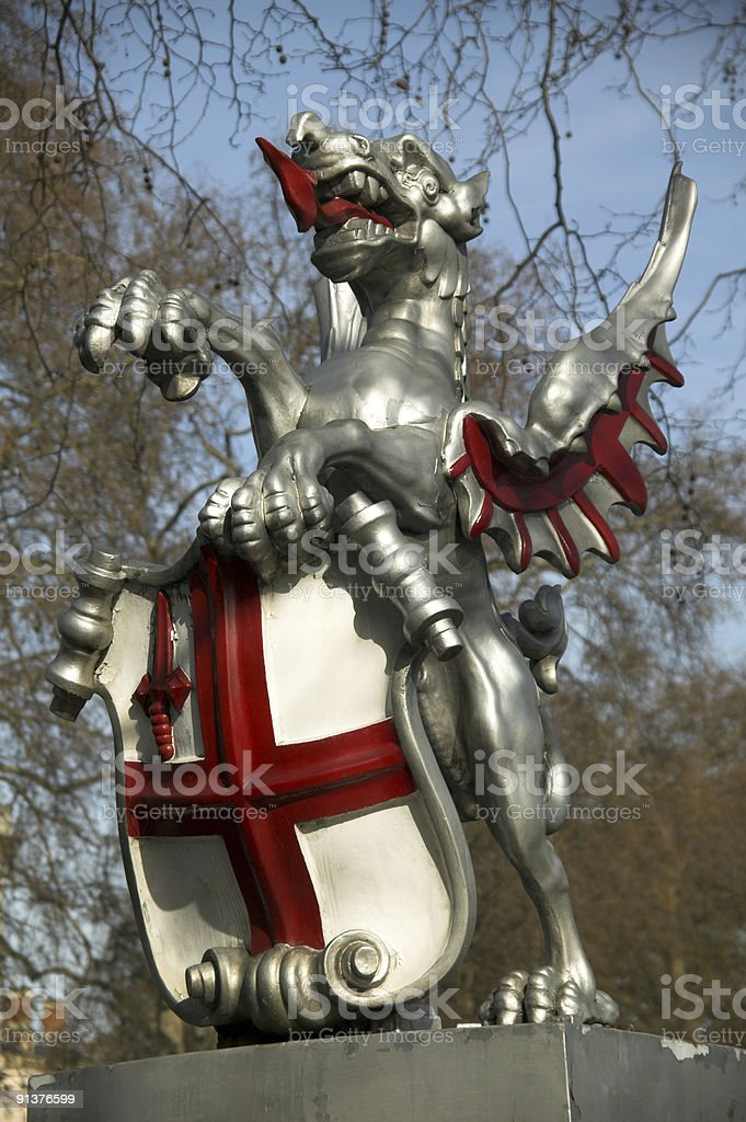 London Dragon Coat Of Arms stock photo