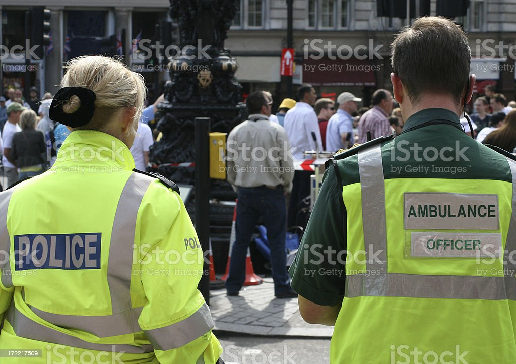 London Emergency Services royalty-free stock photo