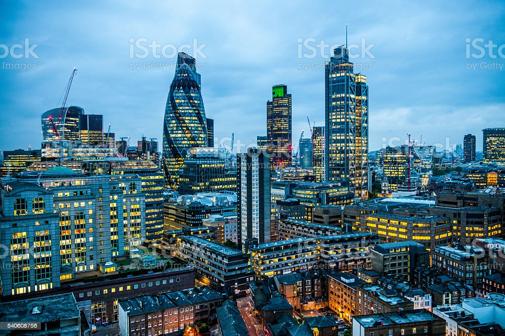 London England City Scape stock photo