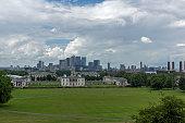 London, England - June 17 2016: Amazing Panorama from Greenwich