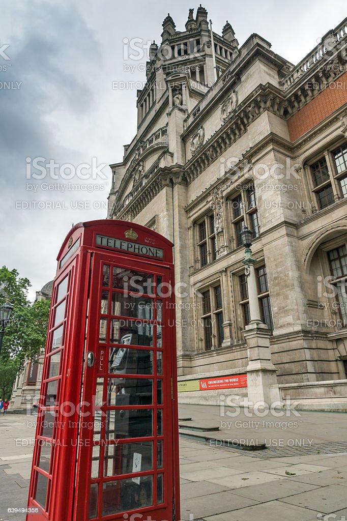 London, England, June 18 2016: Victoria and Albert Museum, London stock photo