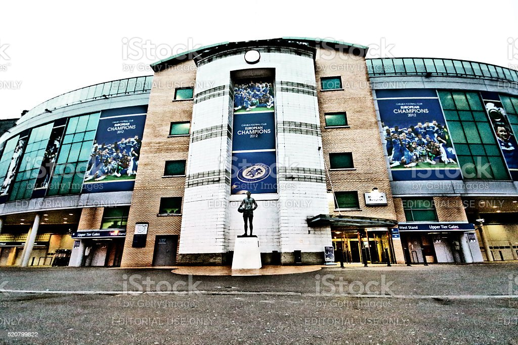 London, England - March 24, 2013 - Stamford Bridge, Chelsea FC stock photo