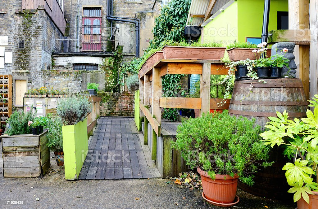 London England Urban Community Green Garden Exterior stock photo