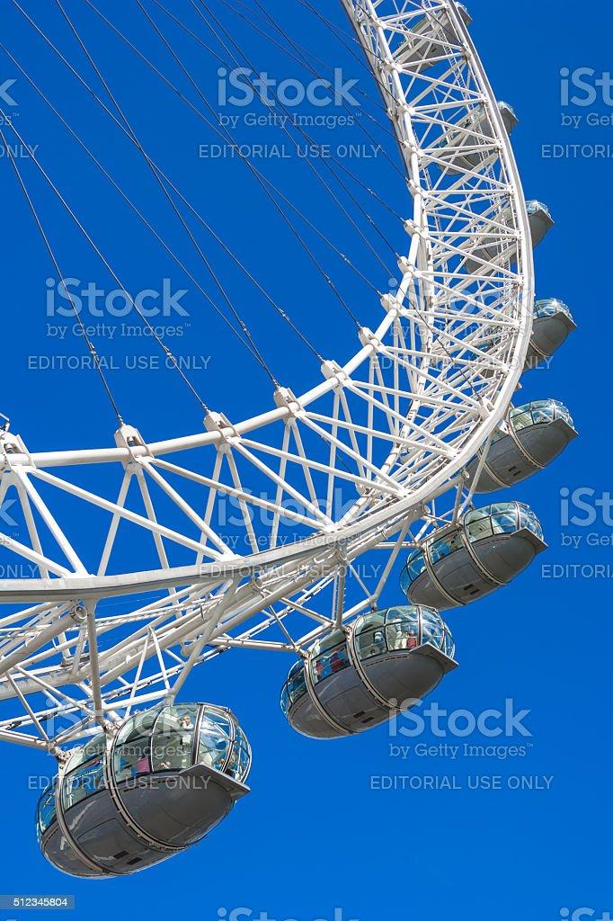 London Eye capsules (Millennium Wheel), London, UK royalty-free stock photo