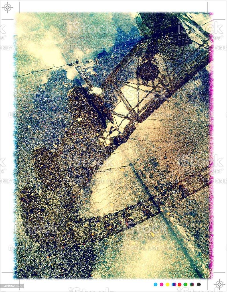 London Eye reflection royalty-free stock photo