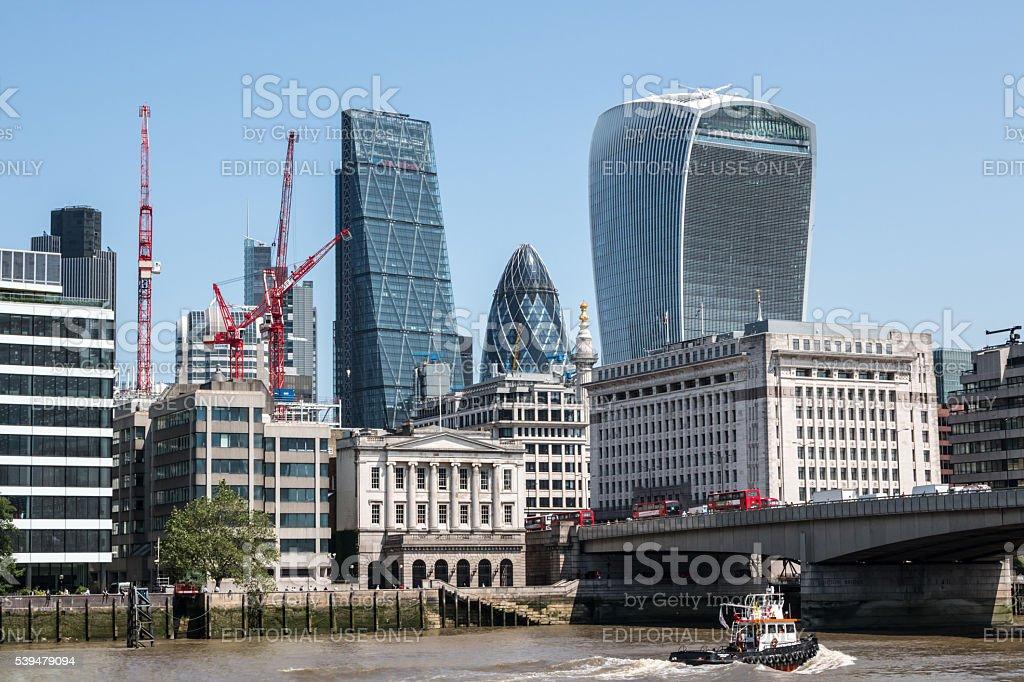 London financial centre stock photo