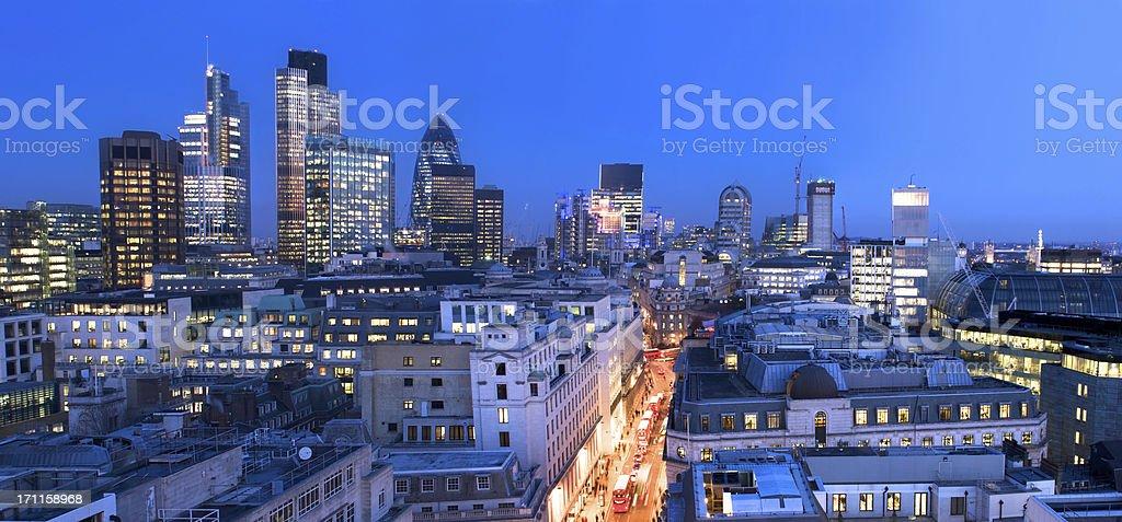 London Financial City Centre royalty-free stock photo