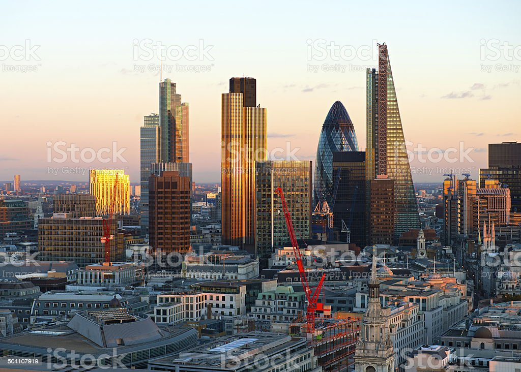 London Financial district City Skyline stock photo