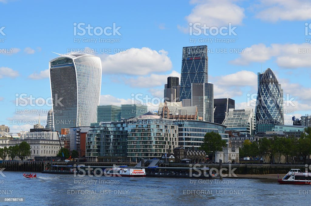 london financial district foto de stock libre de derechos