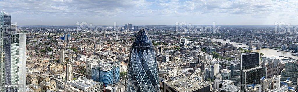 London Financial District Skyscraper Panorama royalty-free stock photo