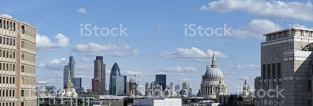 London financial district skyscraper skyline royalty-free stock photo