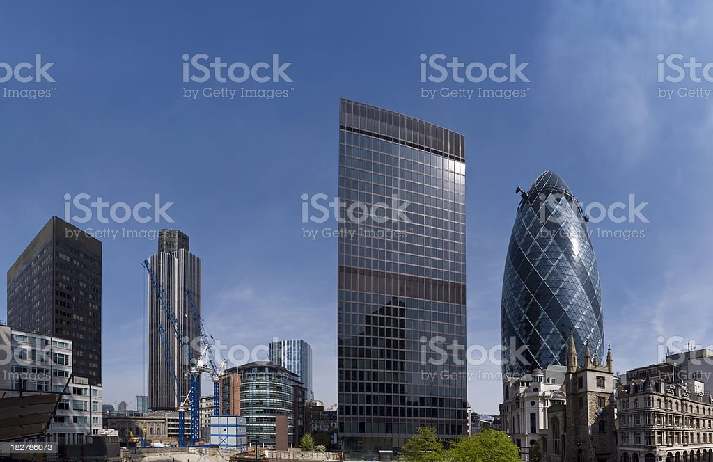 London financial district skyscrapers royalty-free stock photo