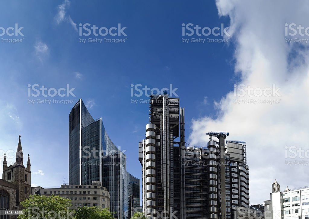 London Financial skyscrapers stock photo
