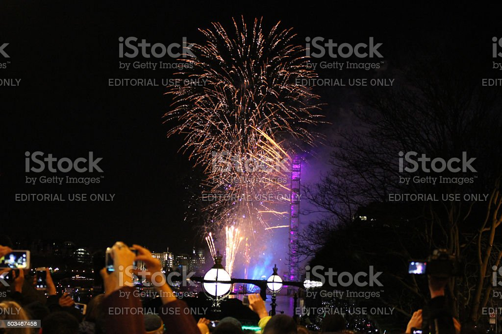 London Firework stock photo