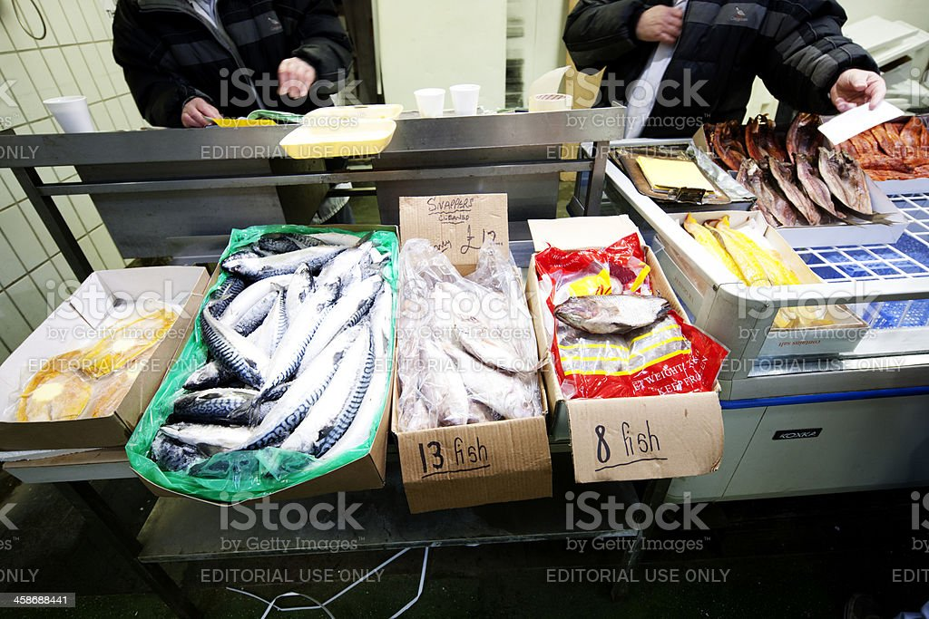 London fish market stock photo