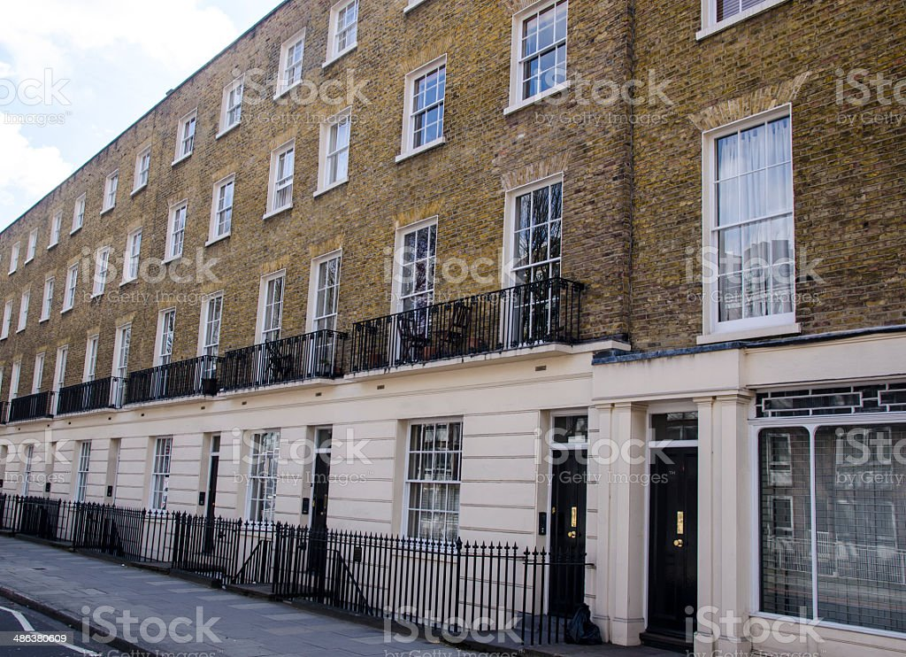 London flats stock photo