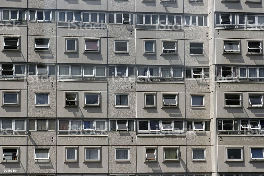 London flats royalty-free stock photo