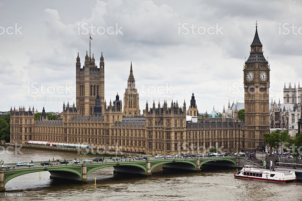London from Above royalty-free stock photo