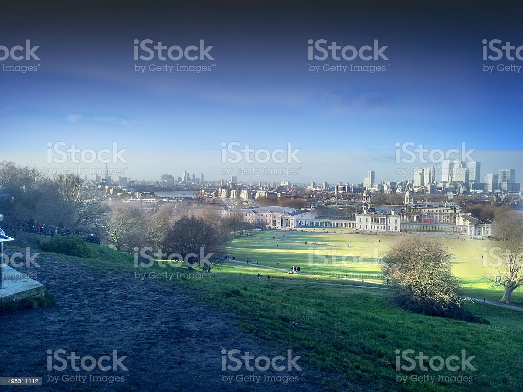London from Greenwich stock photo
