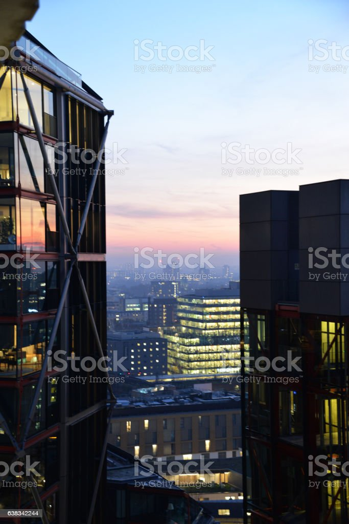 London from Tate modern stock photo