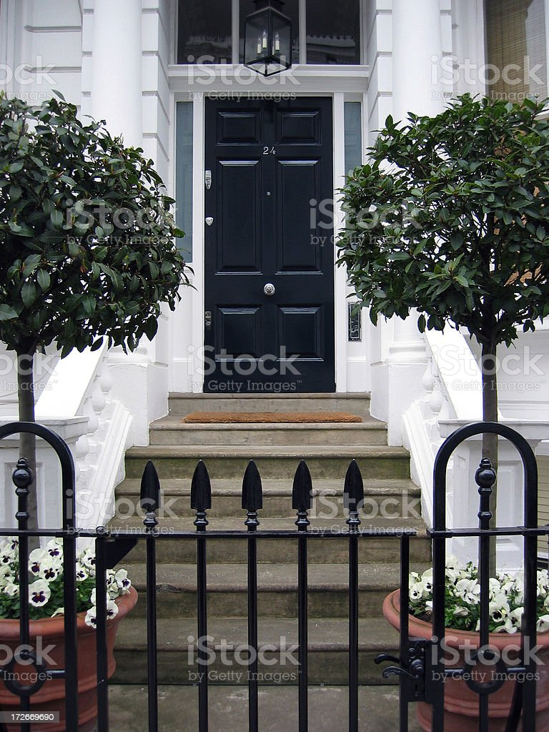 London front door stock photo