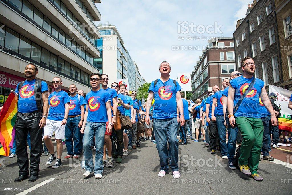 London Gay Men's Chorus at the Pride Parade stock photo