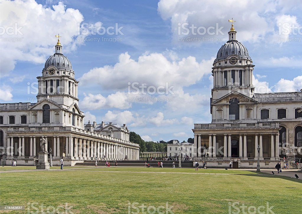 London, Greenwhich, Royal Naval College stock photo