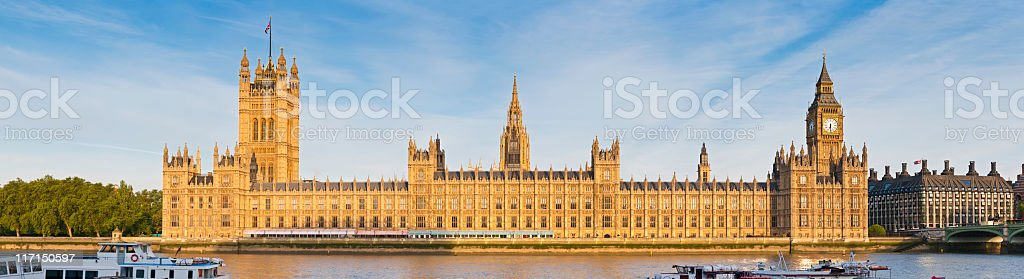 London House of Parliament Westminster Palace panorama royalty-free stock photo
