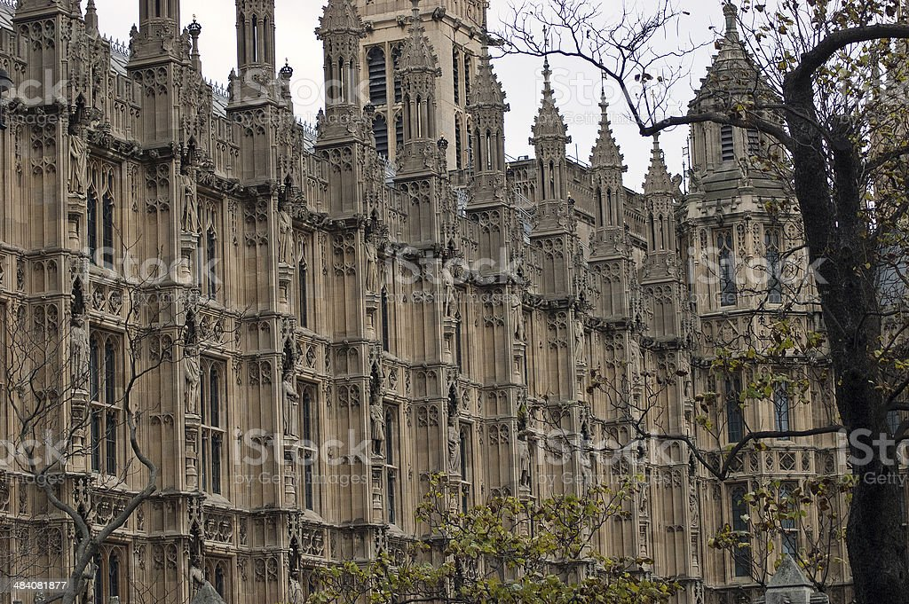 London Houses of Parliament detail stock photo