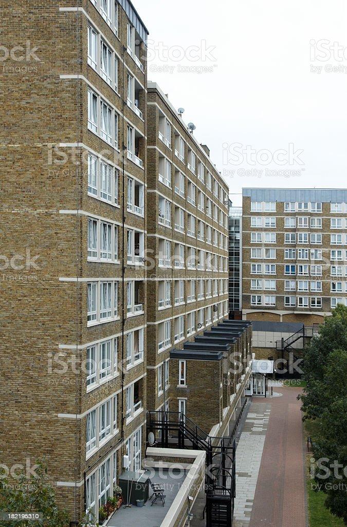 London housing blocks royalty-free stock photo